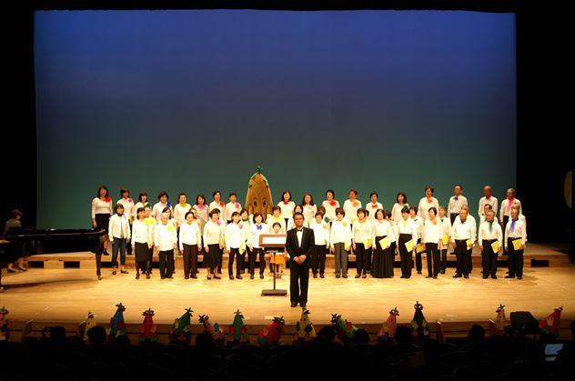 6枚目ステージ上で大合唱