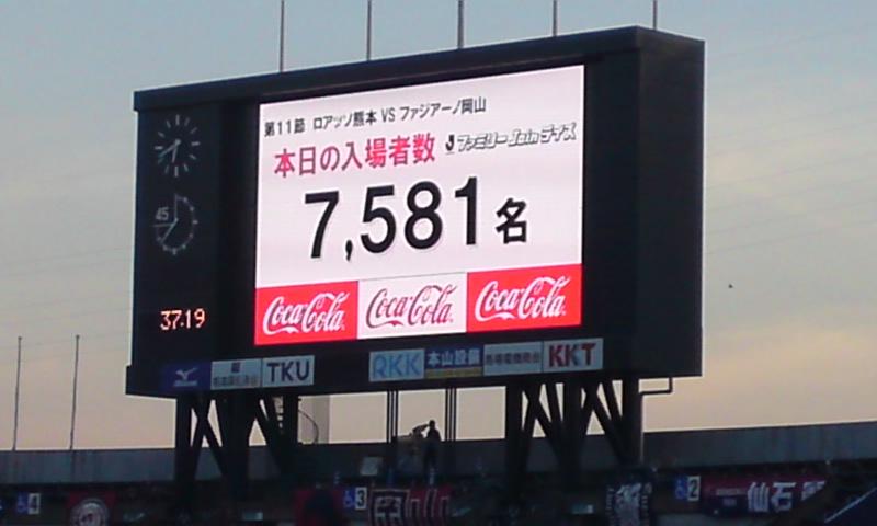 14枚目 公式入場者数は7,581人