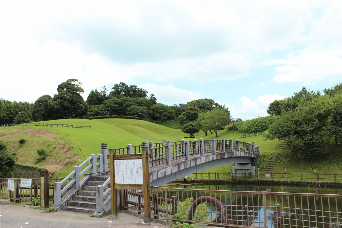 寛永堀橋と竹迫城跡公園