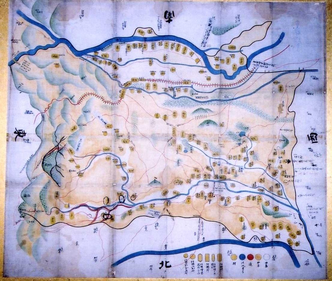 合志郡絵図
