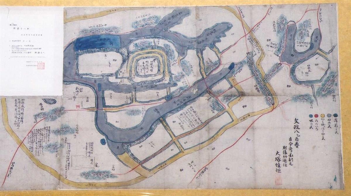 竹迫城絵図