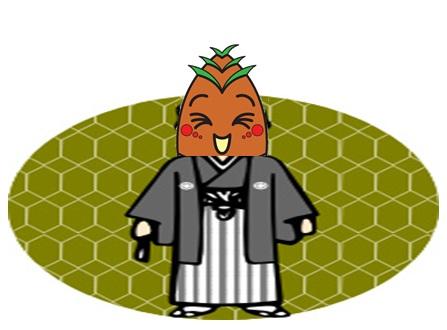 紋付袴のヴィーブルくん